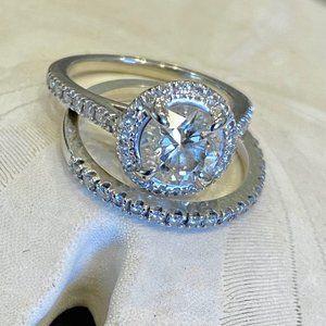 1.22-carat 14k White Gold Engagement Ring